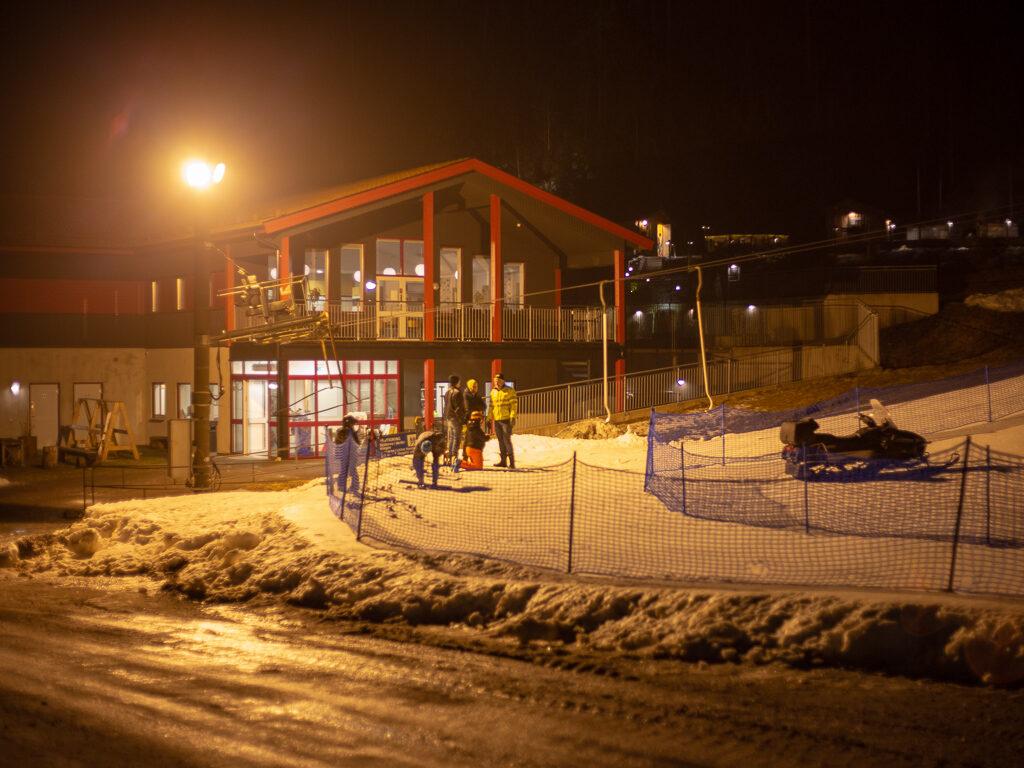 Ullared slalomklubbs klubbstuga vi campingen i Ullared