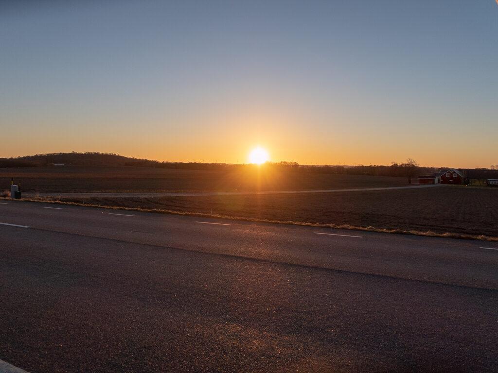 Soluppgång utanför Falkenberg