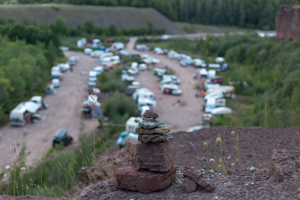 Burning van 2019 stenbrottet Hälleskil
