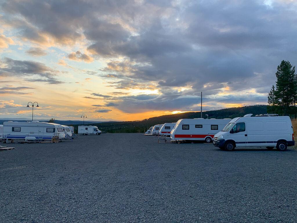 Campingen Renen vid Idre fjäll.