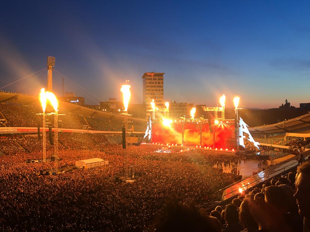 Konsert med Metallica på Ullevi i Göteborg